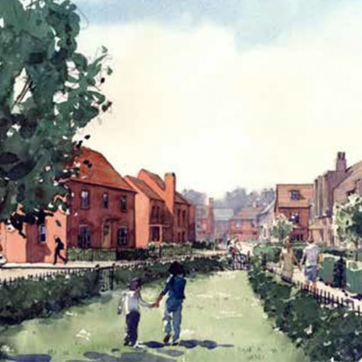 Artist's impression of the homes at Mayfields